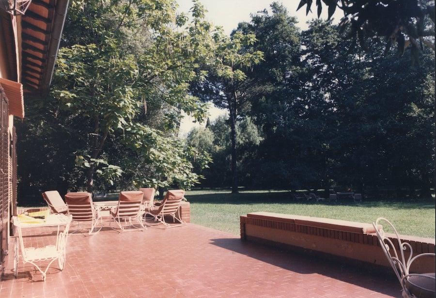 La terrazza sul giardino, Villa Giulini, Forte dei Marmi